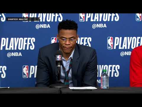 Carmelo Anthony, Russell Westbrook and Paul George Reacts after Game 4