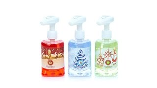 Winter Lane Set of 3 Holiday Musical Soap Pumps