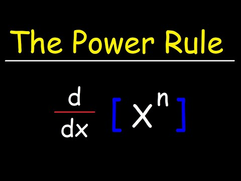 The Power Rule For Derivatives
