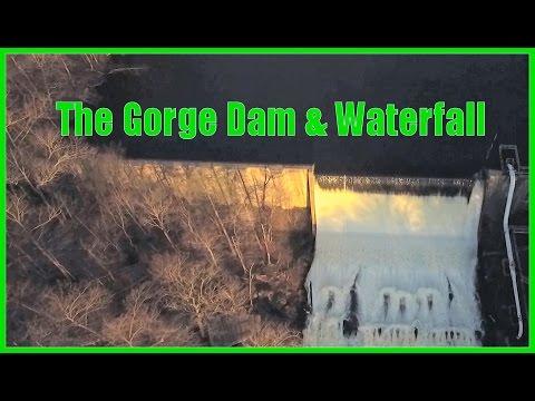 Gorge Dam & Waterfall - Cuyahoga Falls - Summit Metro Parks - Phantom 3 Professional Drone