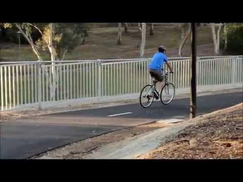 Bluedog CycSafe® bike path safety fence system, Underdale, Adelaide