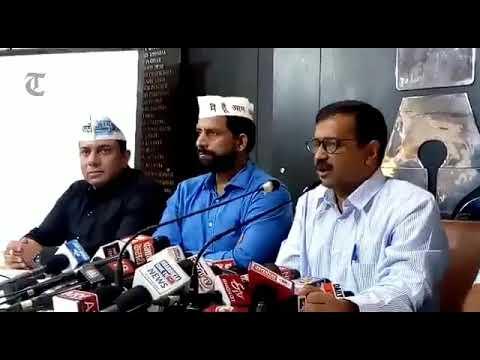 Delhi CM Arvind Kejriwal speaks to media during press conference in Chandigarh