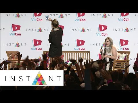 LaurDIY: Lauren Riihimaki Takes A Snapchat With Fans On Stage | VidCon 2017 | INSTANT
