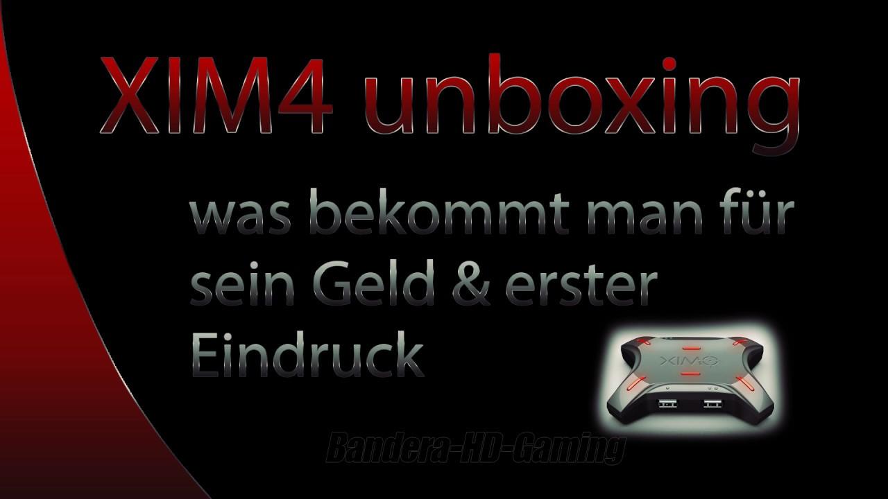 XIM4 unboxing - Maus und Tastatur Adapter für die Konsole - deutsch