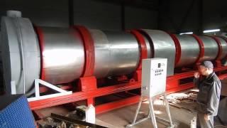 Барабан сушки песка, проверка запуска, клиент Махачкала(Барабан производительностью 25 тонн песка в час, устанавливается на заводе в Махачкале, работает на газу...., 2016-07-25T12:44:08.000Z)