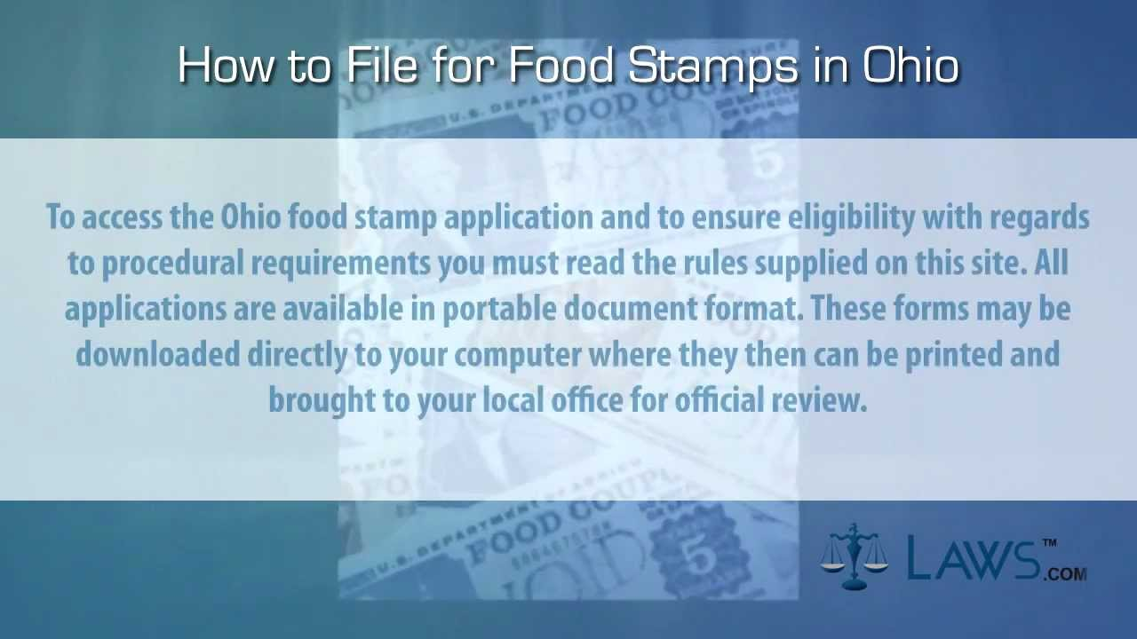 How to file for food stamps ohio youtube how to file for food stamps ohio ccuart Images