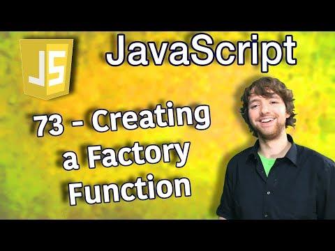 JavaScript Programming Tutorial 73 - Creating a Factory Function thumbnail
