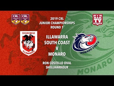 2019 Country Rugby League Rep - Johns and Daley Cup - Round 1- Dragons v Colts