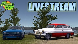 MY SUMMER CAR - 2 HOUR LIVESTREAM (Computer, Fanbelts, grill on Engine)