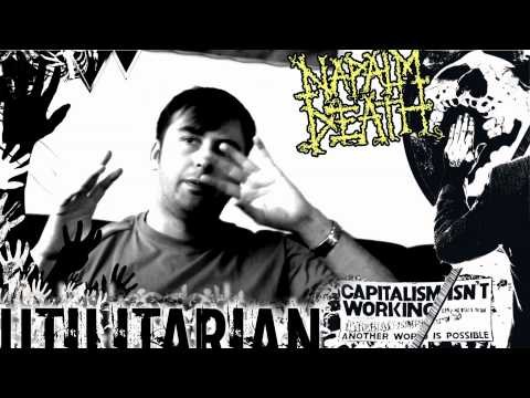 NAPALM DEATH - Utilitarian (Barney talks about the 'Occupy' Movement and riots)