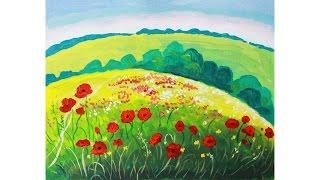 Уроки рисования. Как нарисовать летний пейзаж гуашью Erich Krause(Узнайте больше о материалах для детского творчества на этом сайте http://erichkrause.com ▻ Скачайте видео урок