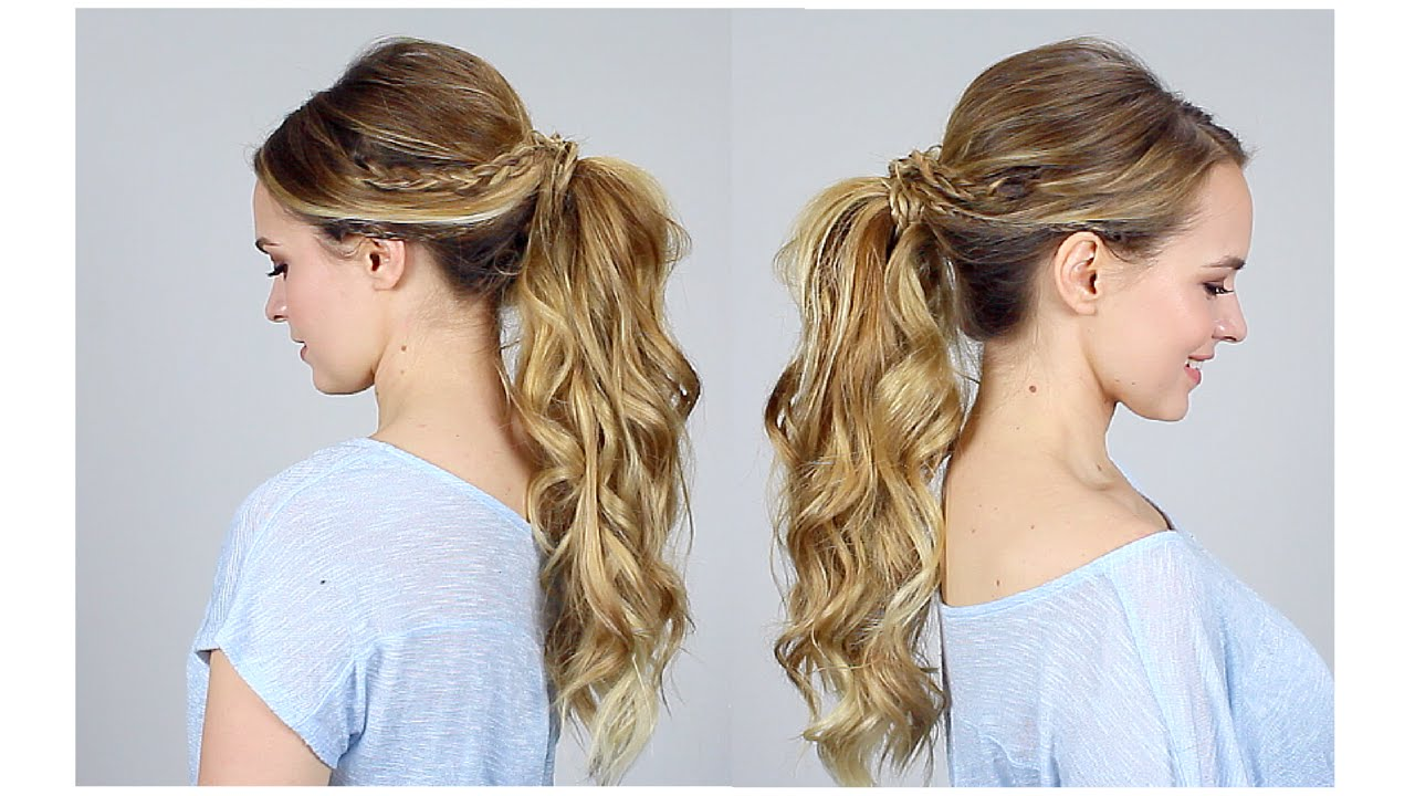 big ponytail tutorial   how to get the volume   youtube