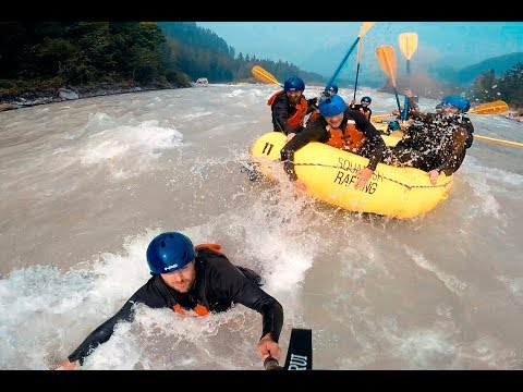 Extreme White Water Rafting in Glacier Waters