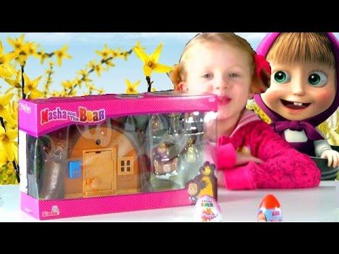 oeuf & jouet MACHA & THE BEAR + kinder surprise # toys & surpise egg