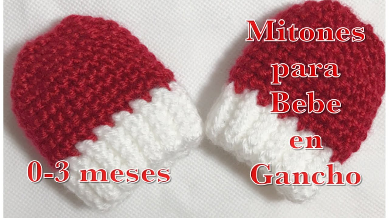 5c19134f19c3c Mitones o manoplas para bebe de 0-3 meses fácil y rápido de hacer en gancho   95