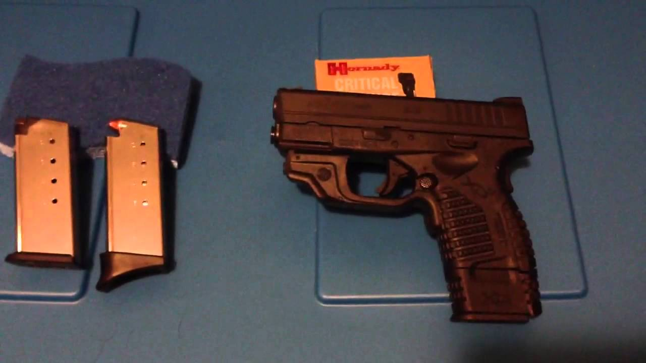 Springfield XDs  45 acp with Crimson Trace Laser grip