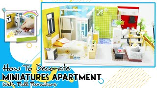 DIY DollHouse Wooden: How To Decorate Miniatures Apartment With Full Furniture