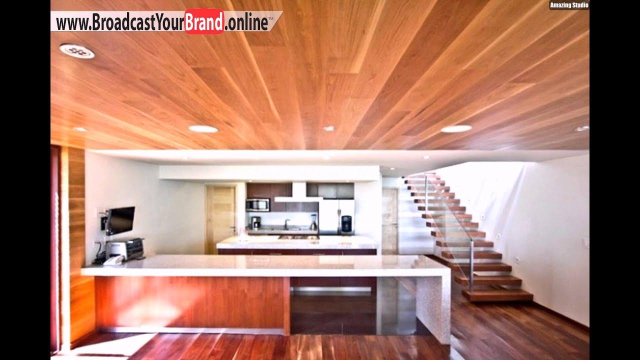 Waldhaus Moderne Einrichtung Holzdecke Küche - YouTube
