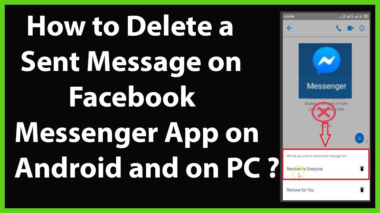 How to Delete a Sent Message (Remove for Everyone) in Facebook Messenger App on Android and PC?