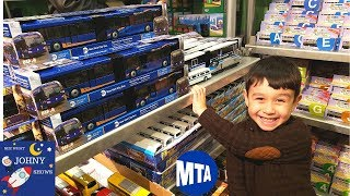 Johny Goes To NYC MTA Transit Museum For The NEW Articulated MTA Bus Toy