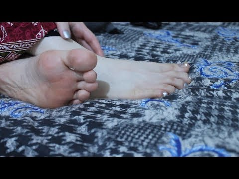 ASMR Feet Oil Massage (Question Answered)