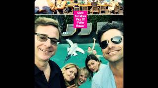 john stamos fuller house family celebrate his birthday pools