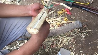 How to make bamboo gun shoot the test at home