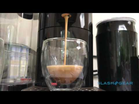 Starbucks Verismo V Coffee Brewer in action