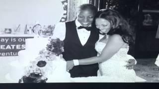 Rashida and Khalila 7/23/15 best weddingever 2015(rainbow wedding) lesbian wedding