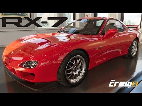 The Crew 2 - Mazda RX-7 - Customization, Top Speed, Review