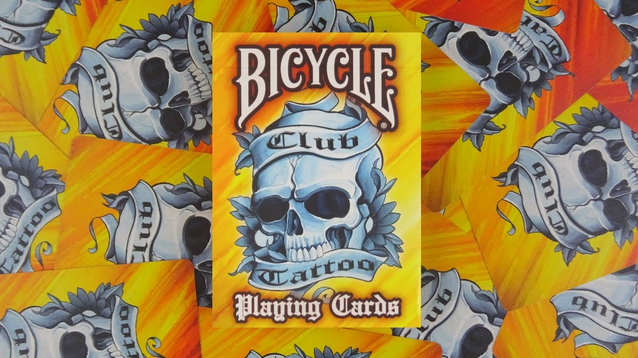 Bicycle club tattoo playing cards deck review display for Bicycle club tattoo deck