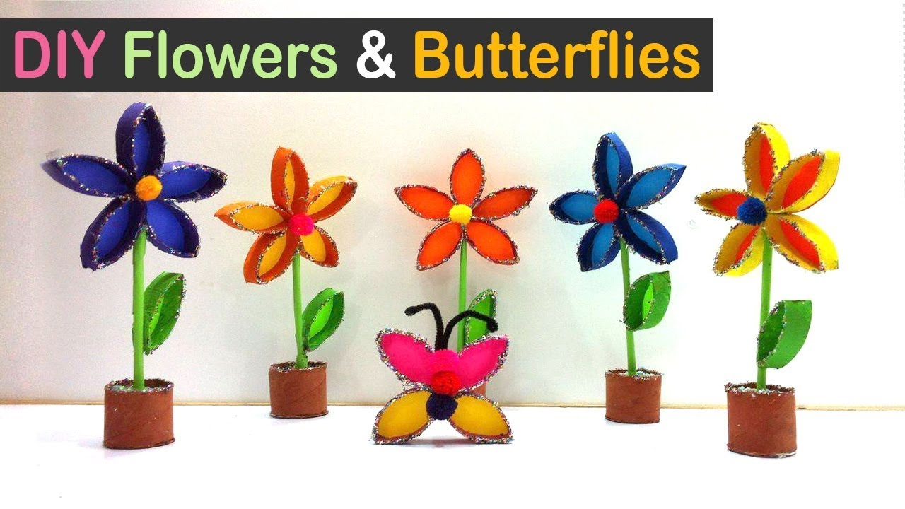 Toilet paper roll crafts diy flowers and butterflies out of toilet toilet paper roll crafts diy flowers and butterflies out of toilet paper roll best out of waste mightylinksfo
