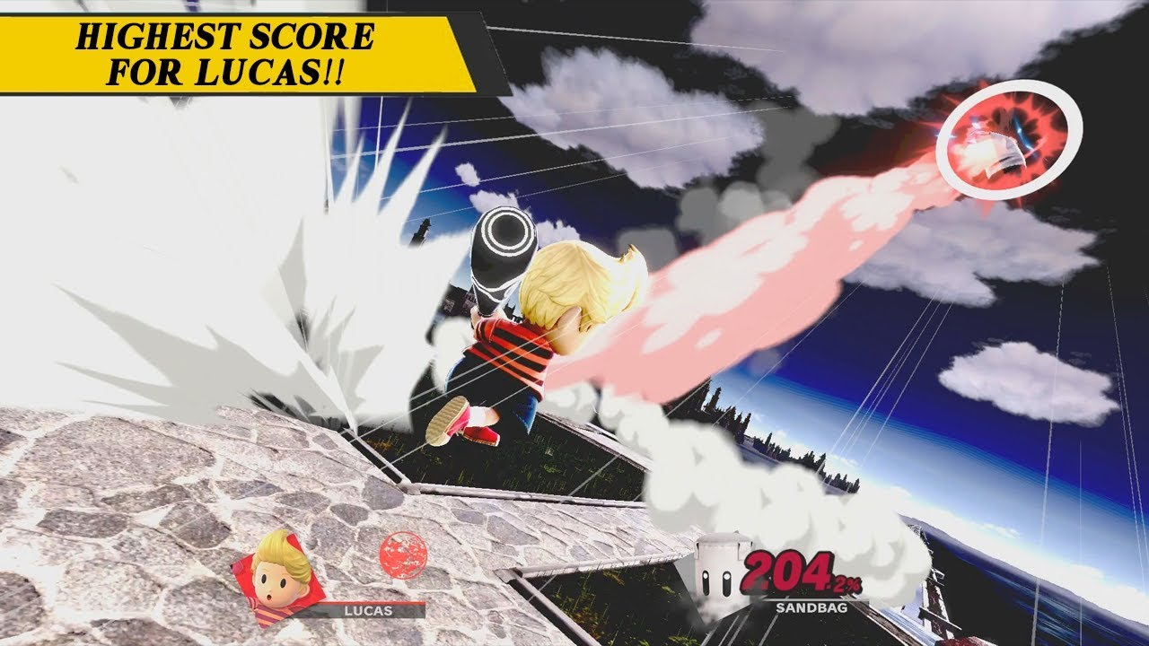 Lucas Home-Run Contest 450 410 km (Highest Score For Lucas) - Super Smash  Bros  Ultimate