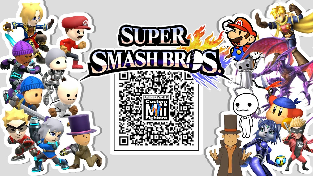 isaac bandana dee ridley more mii fighter qr codes for smash