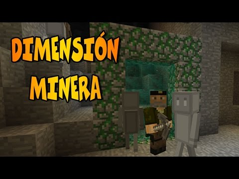 """DIMENSIÓN MINERA!"" | CaveWorld Dimension Mod | Mod Review Minecraft"