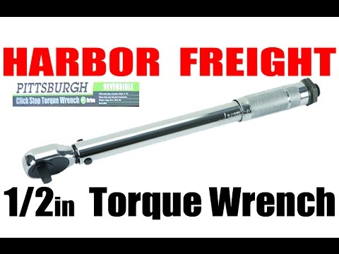 HARBOR FREIGHT: 1/2in 150lb Torque Wrench Review
