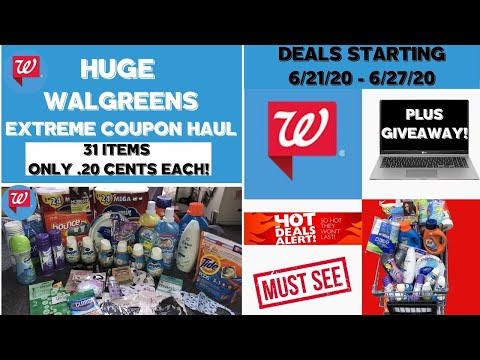 HUGE WALGREENS EXTREME COUPON HAUL DEALS STARTING 6/21/20~31 ITEMS ONLY .20 CENTS EACH 🔥FREE DEALS