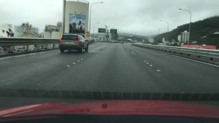 Driving Wellington Urban Motorway and Ngauranga Gorge