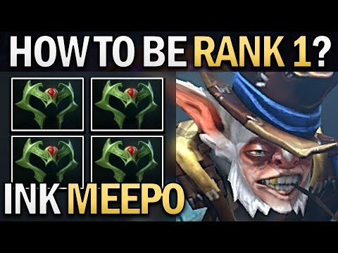 INK MEEPO - HOW TO BE RANK 1 - DOTA 2 GAMEPLAY