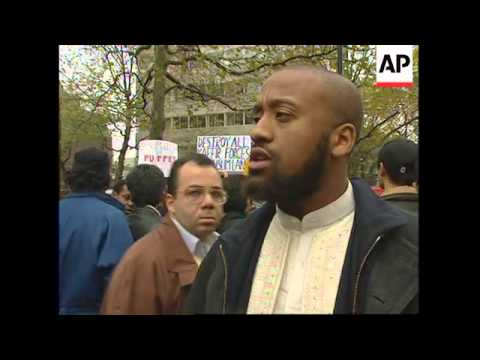 UK: LONDON: MUSLIMS PROTEST AGAINST WESTERN INVOLVEMENT IN IRAQ