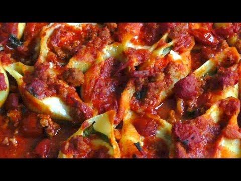 Cheese Stuffed Pasta Shells in Ragu Sauce recipe How to Make