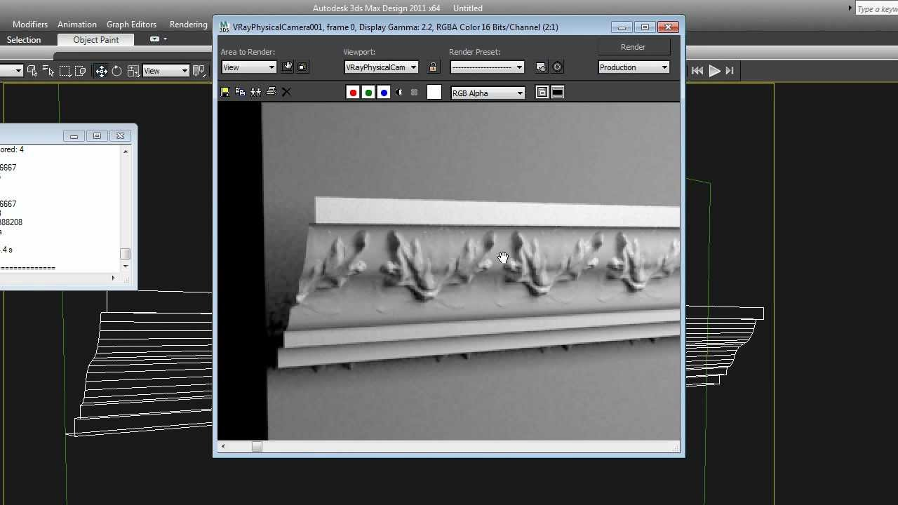 Vray Displacement: Vray Displacement Modifier Tutorial - How To Make  Architectural Moldings