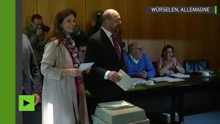 Elections législatives en Allemagne : Martin Schulz vote dans son fief de Würselen