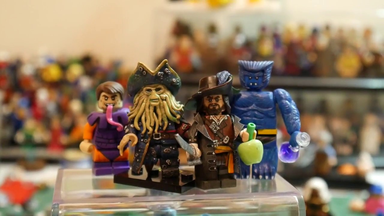 Custom Lego Minifigures 6 Davy Jones Beast Barbossa Toad Youtube