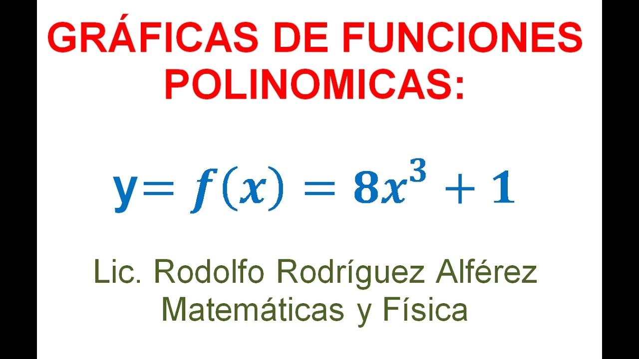 5 Grafica Función Polinomica Y 8x 1 Dominio Y Rango Youtube