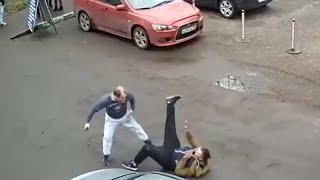 Драка в Балашихе в стиле индийского кино пьяный таксист против трезвого пешехода