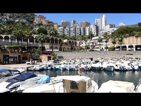 Monaco : Port de Fontvieille, Stade Louis II et Quartier d'affaires HD