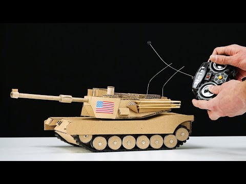 How to Make RC Tank from Cardboard
