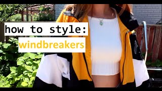 how to style: windbreakers