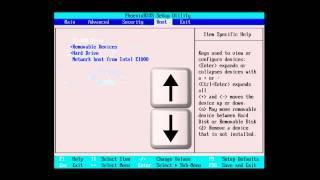 Im BIOS die Bootreihenfolge ändern um von CD oder DVD zu starten
